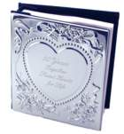 Engraved Gift : Chrome Plated Sweetheart Photo Album