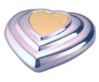 Engraved Gift : Two Tone Heart Compact