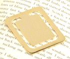 Engraved Gift : Gold Plated Rectangular Bookmark