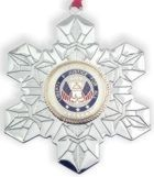 Click for Larger Image -- Veteran - Military Service Christmas Ornament