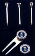 Engraved Gift : Air Force - Golf Tee & Ball Marker Set