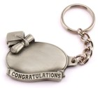 Engraved Gift : Congratulations Graduation Pewter Key Chain