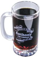 Personalized - 16 ounce Starburst Beer Mug