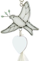Engraved Gift : Peace Dove Ornament Sun Catcher