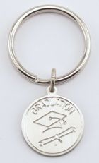 Engraved Gift : Graduation Pewter Key Chain