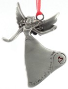 Engraved Gift : Heart of a Home Angel Ornament -JUST 1 LEFT !!